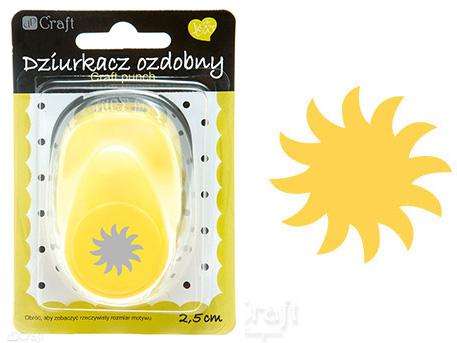 Ozdobná děrovačka DPCraft 2,5 cm - slunce