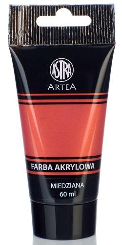 Akrylová barva Astra tuba 60 ml - měděná