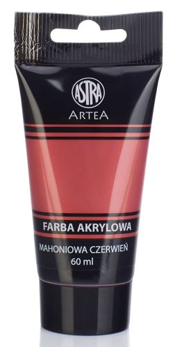 Akrylová barva Astra tuba 60 ml - červený mahagon