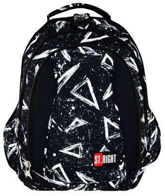 Školní batoh 43 cm BP4, objem 24 litrů - černý s potiskem