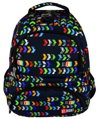 Školní batoh 43 cm BP7, objem 23 litrů - černý s potiskem
