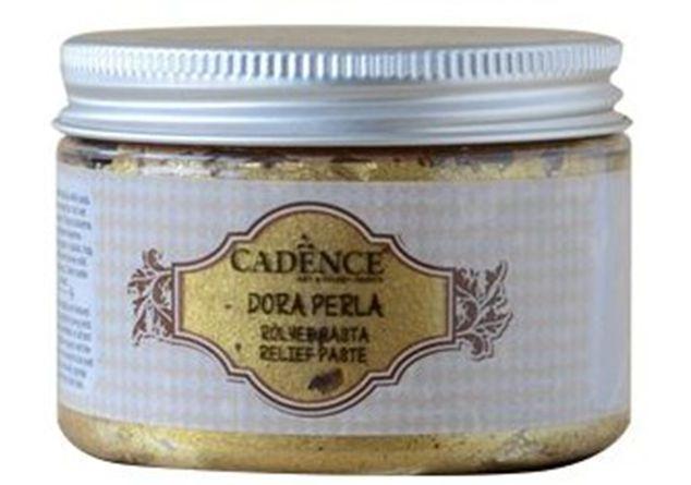 Metalická reliéfní pasta CADENCE, 150 ml - zlatá