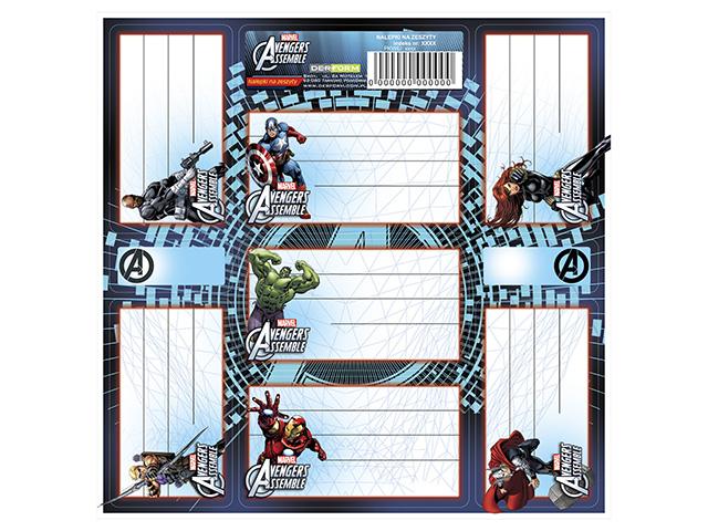 Jmenovky na sešity - Avengers