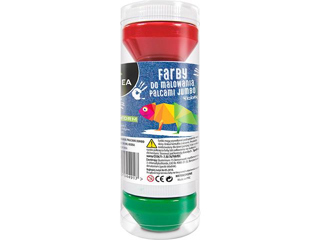 Prstové barvy Kidea jumbo- 4 kusů