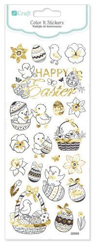 Velikonoční nálepky k vymalování - 21 kusů