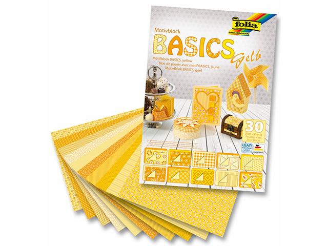 Kreativní blok FOLIA 24x34cm - 30 listů, žlutý