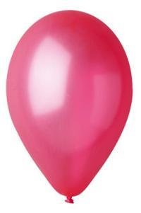 Nafukovací balónky 100 kusů - červené, metal