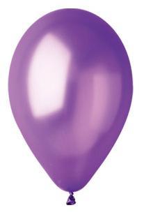 Nafukovací balónky 100 kusů - fialové metal