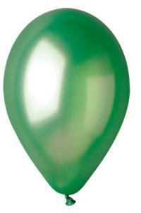 Nafukovací balónky 100 kusů - zelené, metal