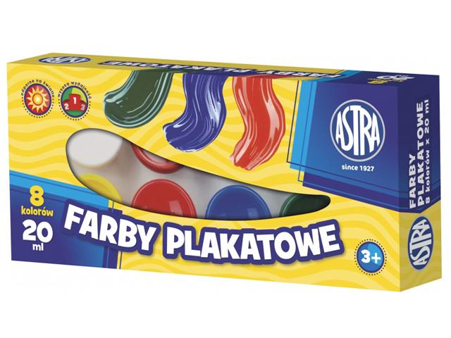 Temperové barvy v kelímku Astra 20 ml - 8 barev