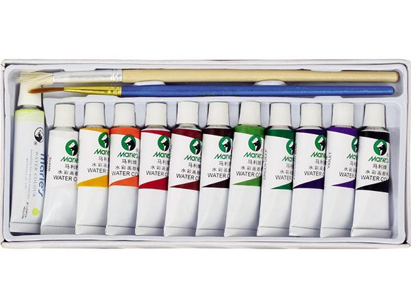 Akvarelové barvy Maries E 1325 - 12 barev, tuby 5 ml***