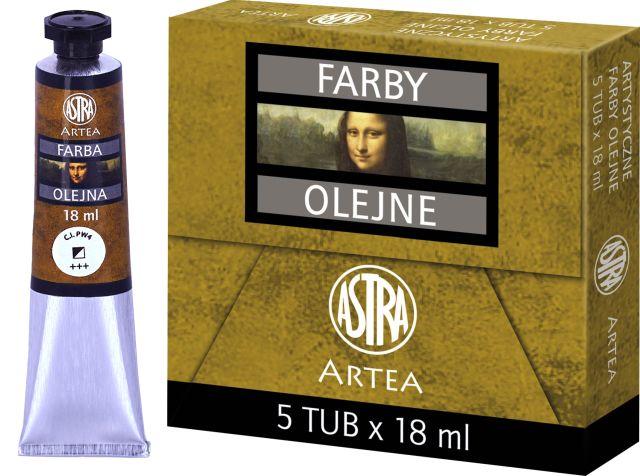 Profi olejové barvy 18 ml ARTEA - běloba zinková
