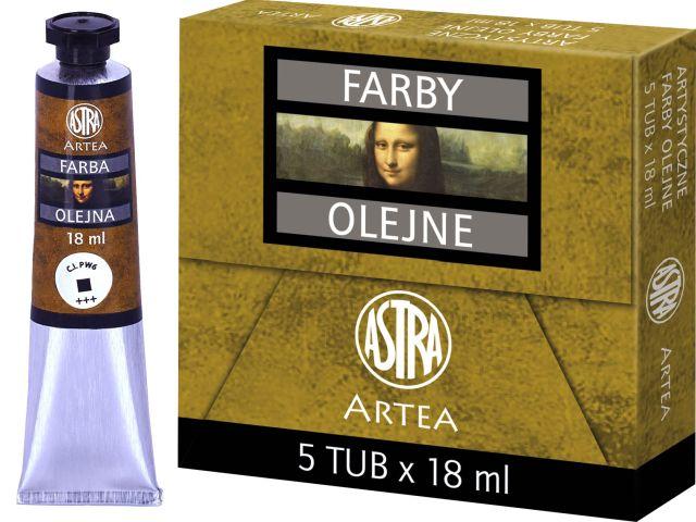 Profi olejové barvy 18 ml ARTEA - titanová bílá