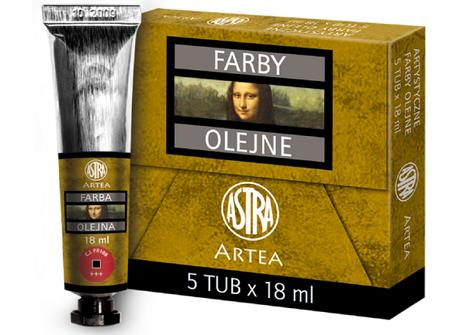 Profi olejové barvy 18 ml ARTEA - tmavě červená