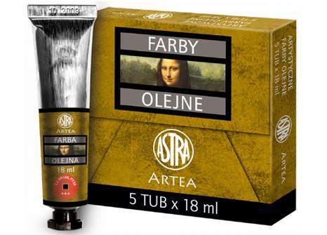 Profi olejové barvy 18 ml ARTEA - světle červená
