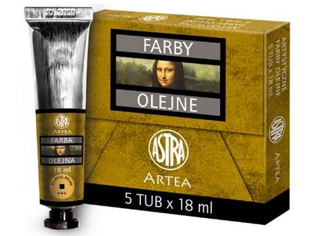 Profi olejové barvy 18 ml ARTEA - žlutá tmavá