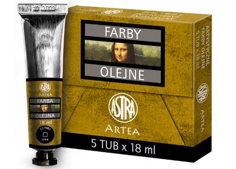 Profi olejové barvy 18 ml ARTEA - černé saze