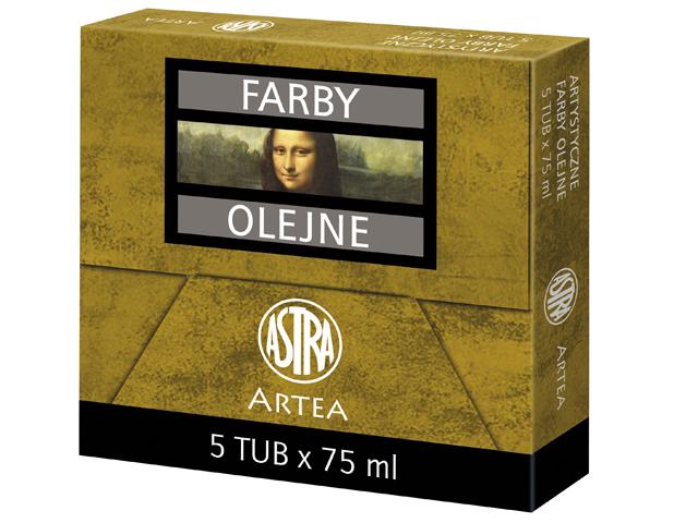 Profi olejové barvy 75 ml ARTEA - titanová bílá Large