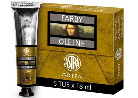 Profi olejové barvy 18 ml ARTEA - světle hnědá