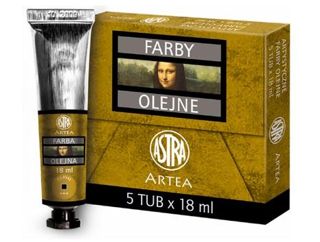 Profi olejové barvy 18 ml ARTEA - okrová žlutá