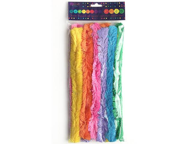 Velmi tlusté chlupaté drátky - mix pastelových barev