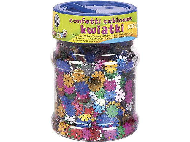 Konfety, flitry květiny ASTRA - barevný mix 100 g