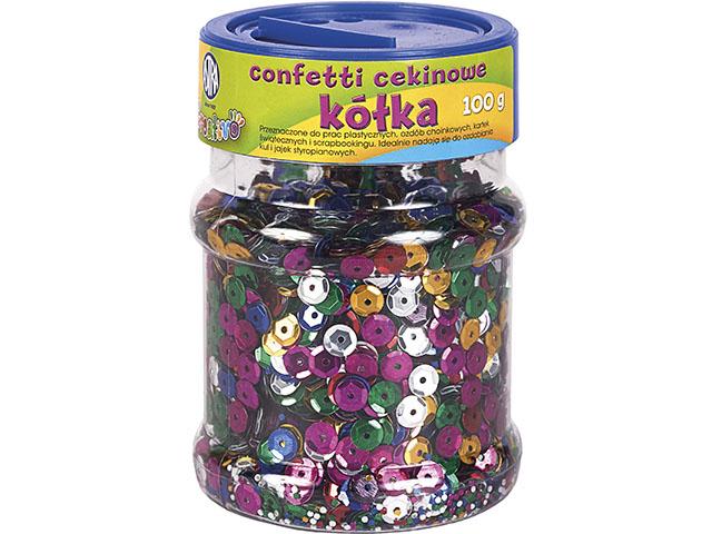 Konfety, flitry kolečka ASTRA - barevný mix 100 g