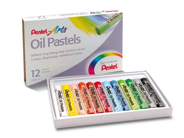 Olejové pastely PENTEL PHN12 - 12 barev
