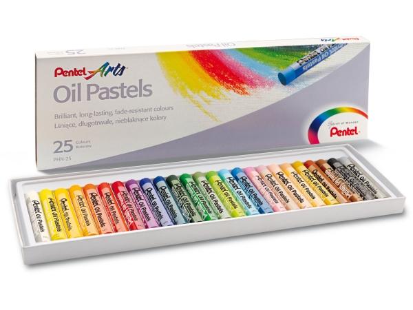 Olejové pastely PENTEL PHN25 - 25 barev