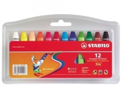 Olejové pastely STABILO 12 barev