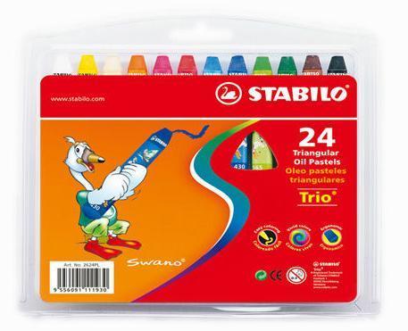 Olejové pastely STABILO - 24 barev
