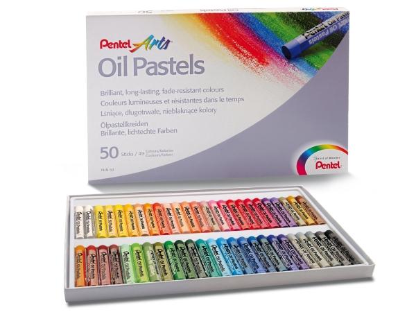 Olejové pastely PENTEL PHN50 - 50 barev