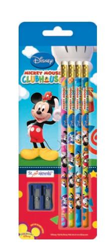 Tužka s gumou č. 2, sada 4 kusů - Disney