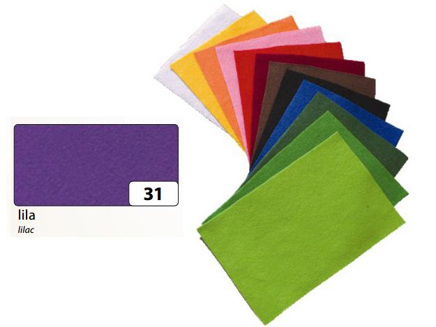 Filc fialový 20x30 cm - zn. Folia