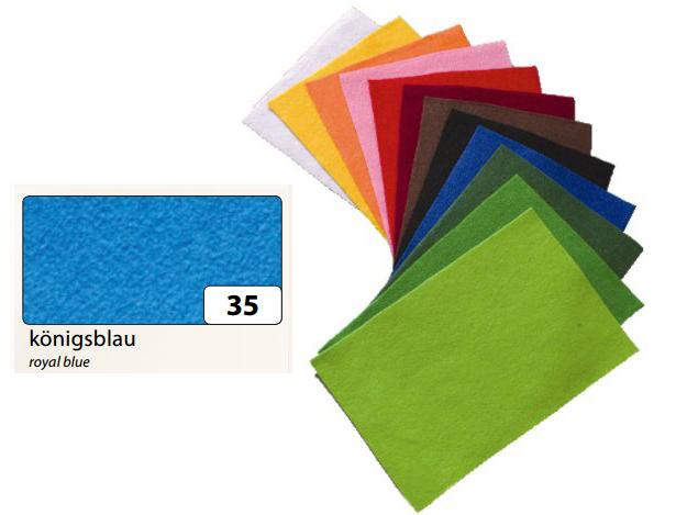 Filc modrý 20x30 cm - zn. Folia