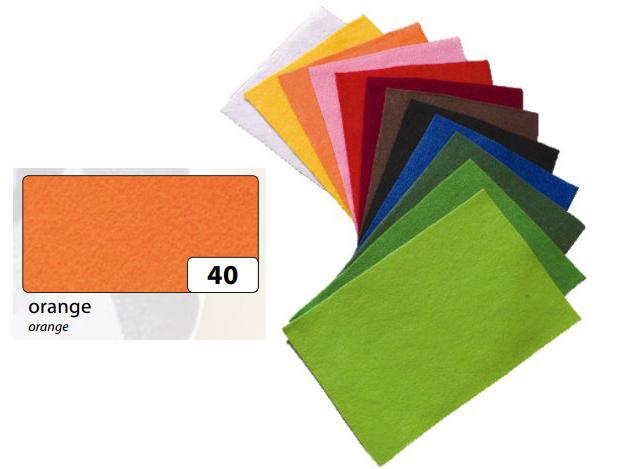 Filc oranžový 20x30 cm - zn. Folia