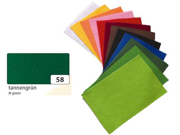 Filc tmavě zelený 20x30 cm - zn. Folia