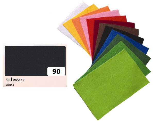 Filc černý 20x30 cm - zn. Folia