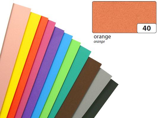 Dekorativní pěna 20x29cm oranžová, cena za 1 list