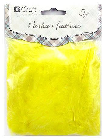 Dekorativní peří  DPCraft 5-12 cm, 5 g - žluté