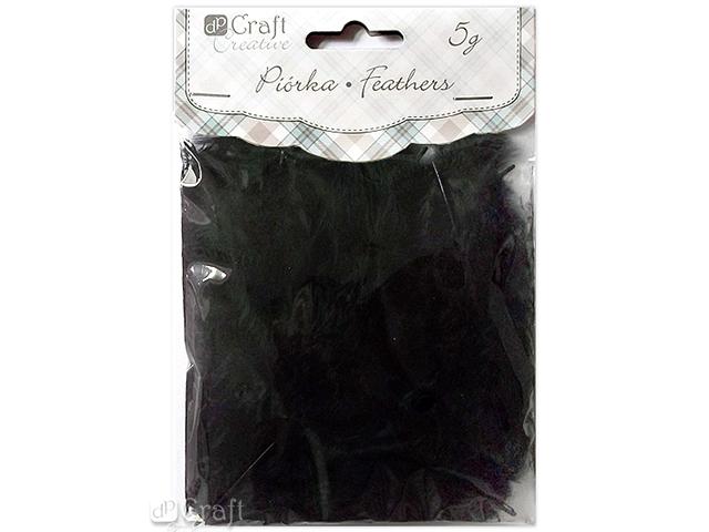 Dekorativní peří  DPCraft 5-12 cm, 5 g - černé