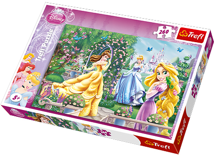 Puzzle Disney, 260 dílků, Princezny