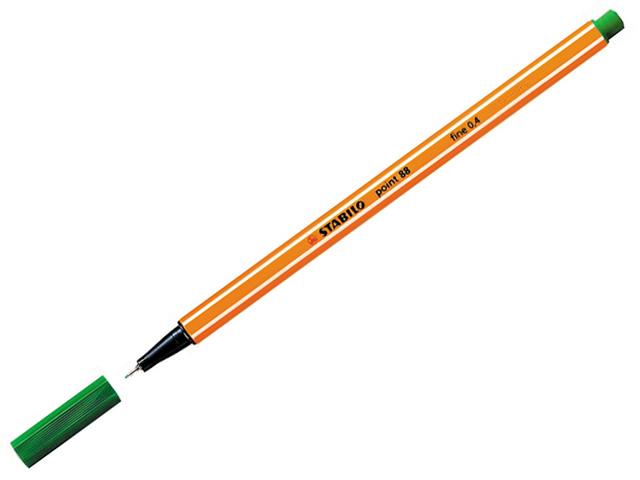 Liner STABILO Point 88/33 - tmavě zelený