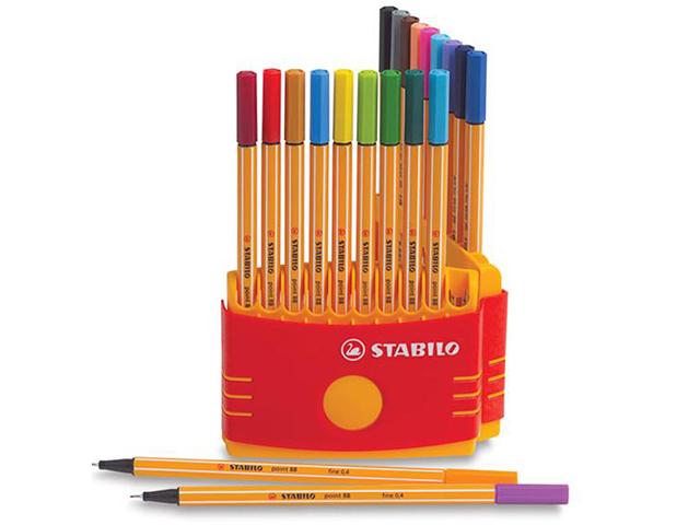 Liner STABILO Point 88 - sada 20 kusů, neon