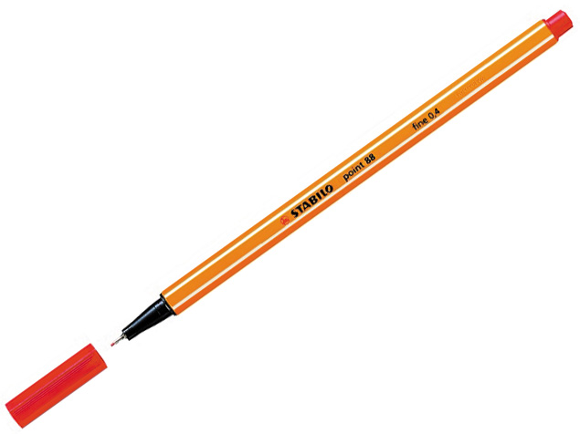 Liner STABILO Point 88/40 - neon červený