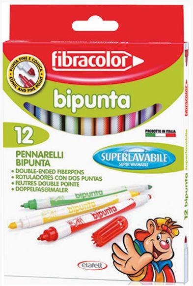 Oboustranné fixy Fibracolor - 12 barev