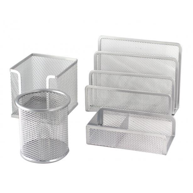 Drátěné stojánky stříbrné - sestava 4 kusů