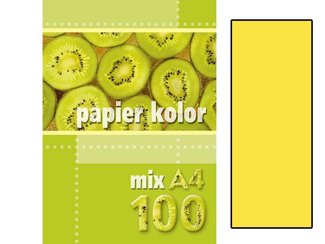 Xerox papír A4 žlutý, 100 kusů