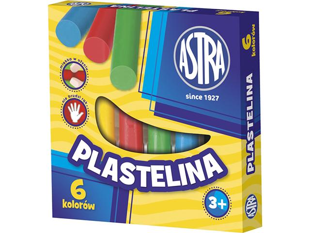 Plastelína Astra - 6 barev
