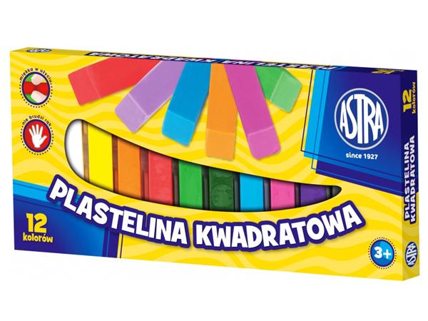 Plastelína ASTRA hranatá - 12 barev